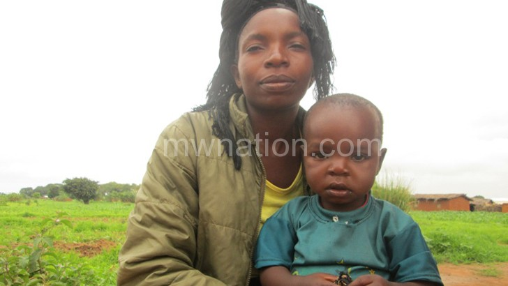 Mwale and her son whom she delivered on the roadside