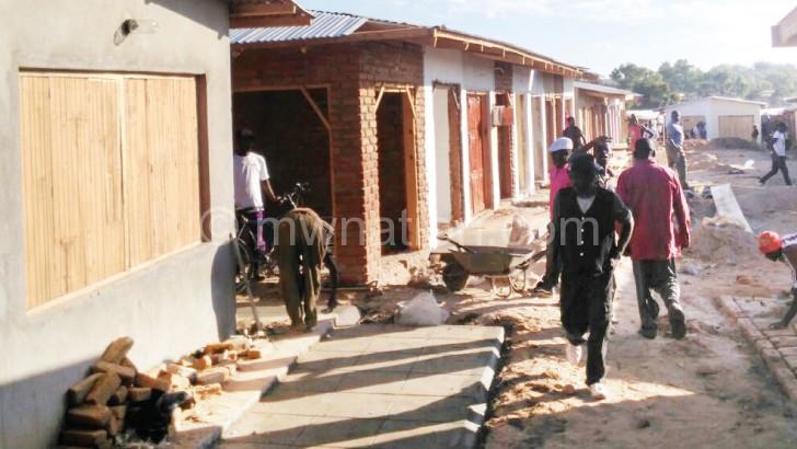 Mzimba market under reconstruction recently