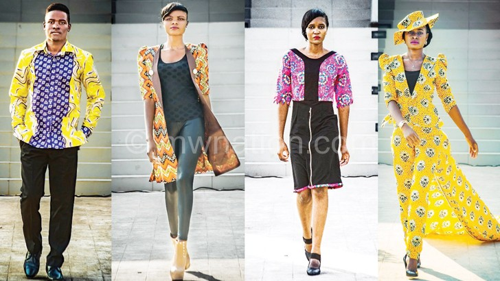 A combo picture shows some fo the models on the runway