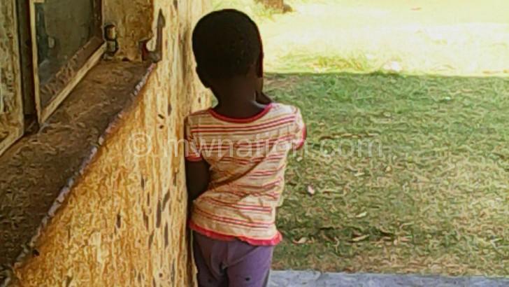 A soiled child left unattended at Bibi Khadijah orphanage