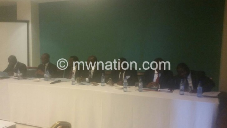 Ministers at the Press Conference, picture by Rebecca Chimjeka