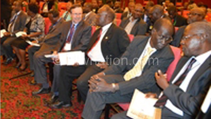 Ruforum delegates listening to Mutharika during the meeting