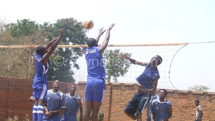 Part of the Spikers and Eagles game at Lilongwe  Community Centre Court