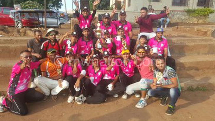 Cricket champions: Silver celebrate their victory