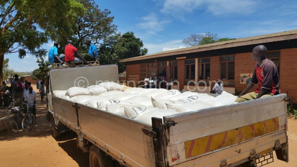 The truckload of maize donated by DPP personalities