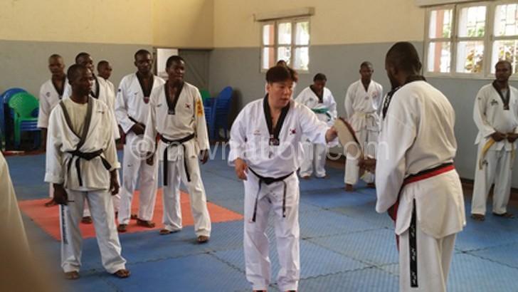Taekwondo training targets 2020 Japan Olympics