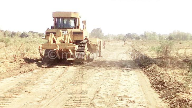 Work in progress at Karonga Stadium site