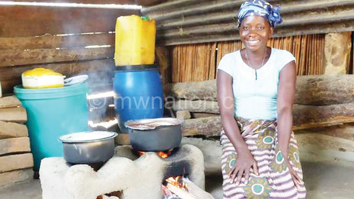 In the village, people use traditional methods to preserve food before cooking