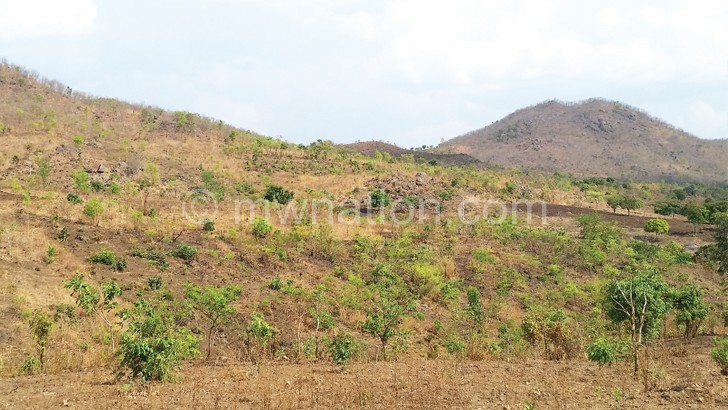 A view of Napingo and Chigodi hills