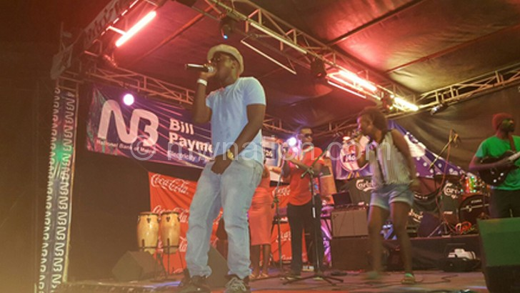 Gwamba: One of the local acts that performed at the Sand Festival