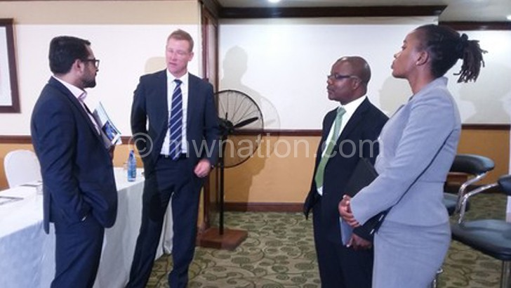 From L to R: Sakar, Duncan, Mikwamba and Jiya engaging in a  discussion after the launch