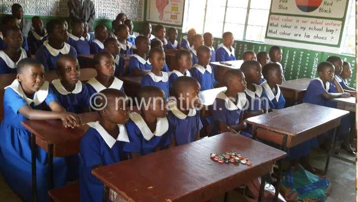 In Likoma, some schools girls like these easily falls prey to early marriages