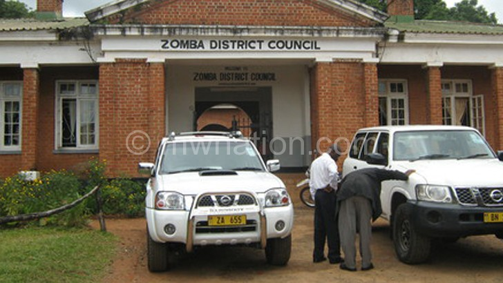 To receive NAC funding: Zomba District Council
