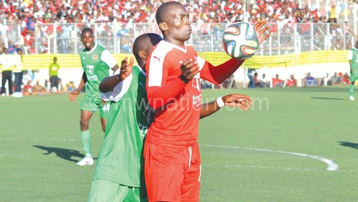 Chiukepo (R) last won the TNM Super League golden boot in 2007