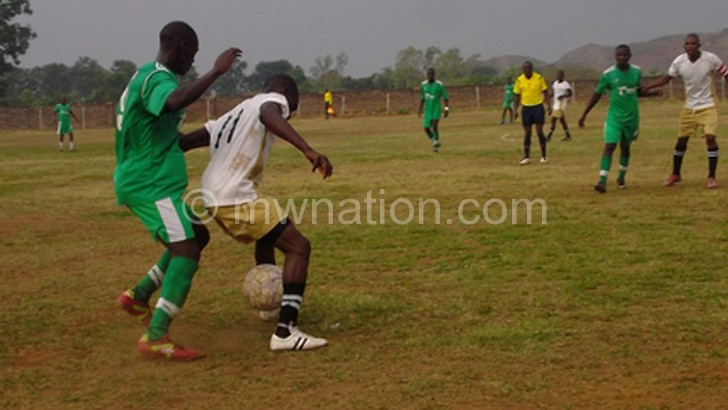 Cobbe (in green) captured in a recent league match against Changalume