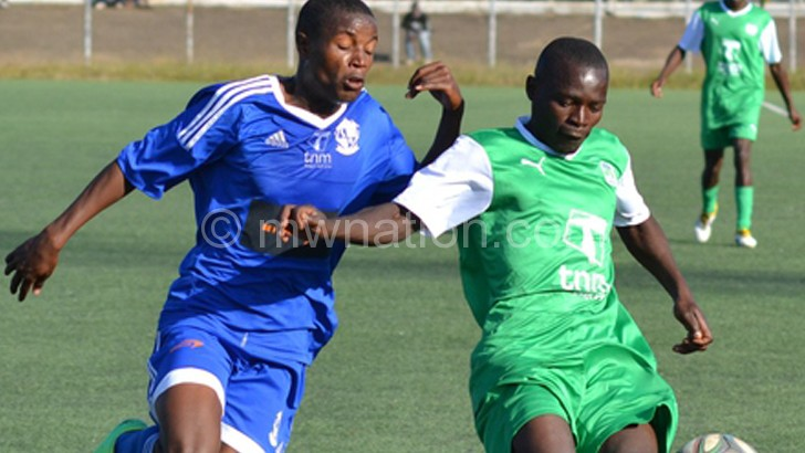 Mzuni (in green) have managed to avoid relegation