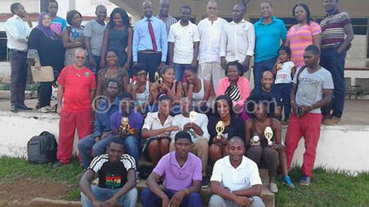 Nyala executive members and players pose after the assembly