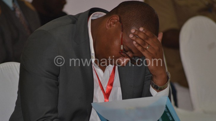Suleman captured during the proceedings in Mangochi