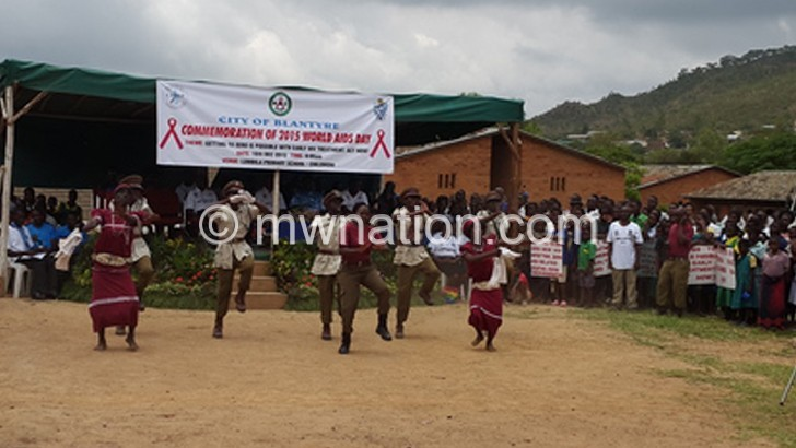 Malawi Prison Service officers caught in dance at the commemoration