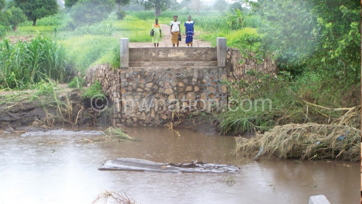 A bridge cut off by floods in T/A Lundu's area. The Fisd programme seeks to protect the environment