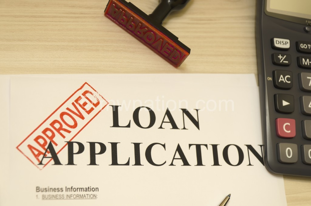 Approved the loan application, approved seal was shot