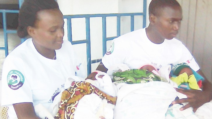 The Matabwa's with their new triplets