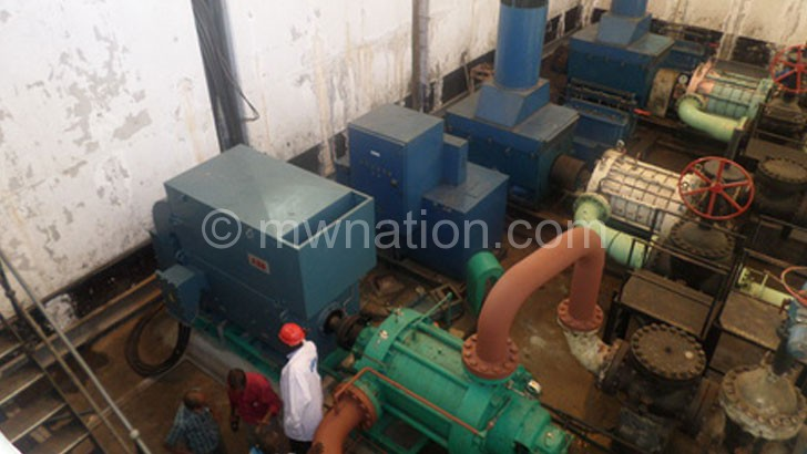 Pumps that supply Blantyre residents with water at Walker's Ferry