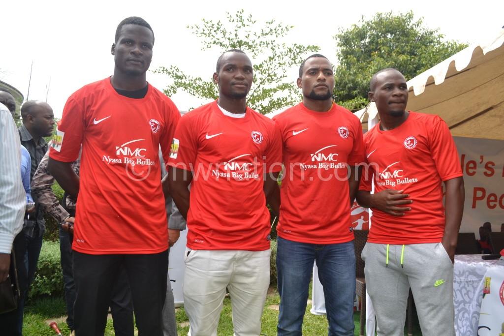 The new signings: From left Kakhobwe, Lanjesi, Zoya and Sulumba