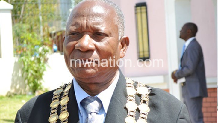 Mayor for Lilongwe City, Councilor Willie Edward Chapondera