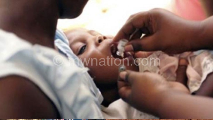 A child being adminstered a cholera vaccine in an earlier campaign
