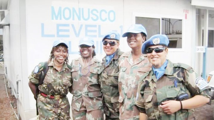 Chanju (L) during one of her peace keeping missions