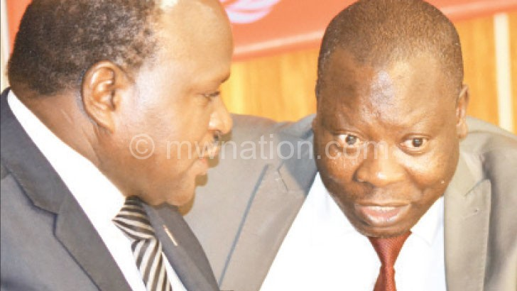 Former Speaker Henry Chimunthu Banda (R) with Phiri  at the conference