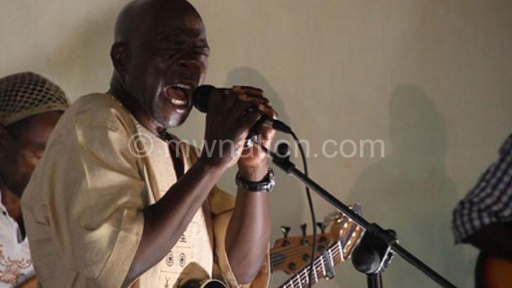 Wambali performing at the Blantyre concert last week