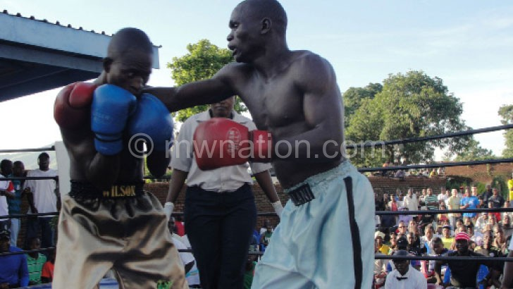Out for revenge: Masamba (L) defeated Malani (R) in this fight