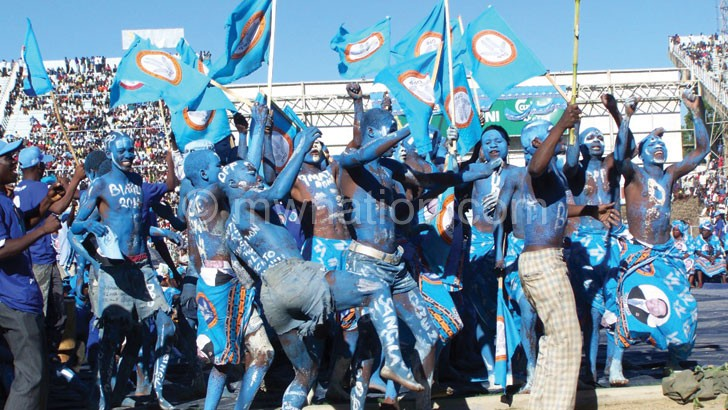 DPP Youth Cadets entertaining their party leader at a rally