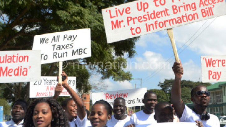 access to info demo | The Nation Online