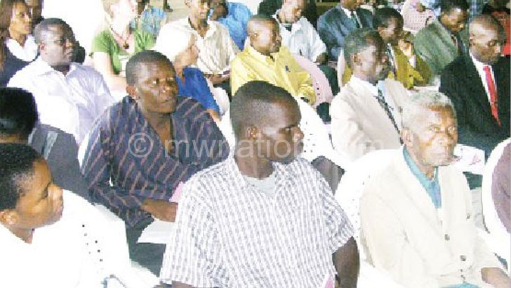 A  cross-section of church leaders and other delegates on fighting HIV