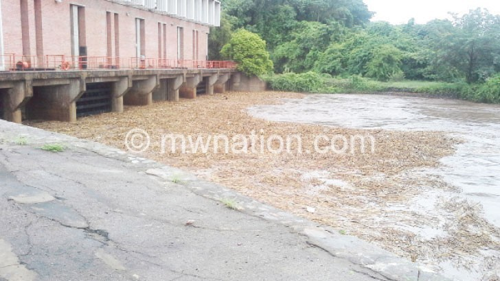 Flooding waters that carry with it debris affect power generation