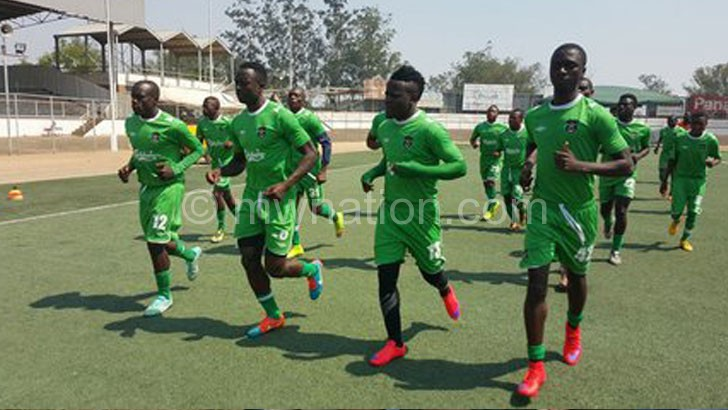 Flames limbering up for their 2018 World Cup qualifier against Tanzania last year