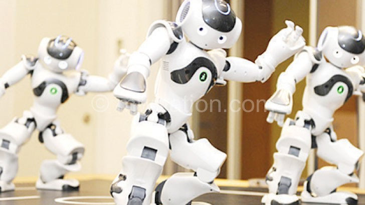 Robots, not unlike this one, were a big attraction at Davos