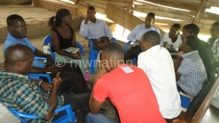 Some of the youth in-group discussions