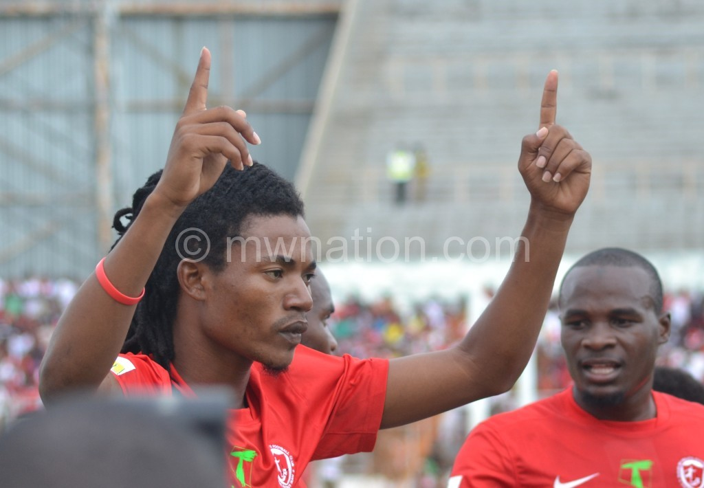 Nyirenda's goal scored in the first match separate the two sides