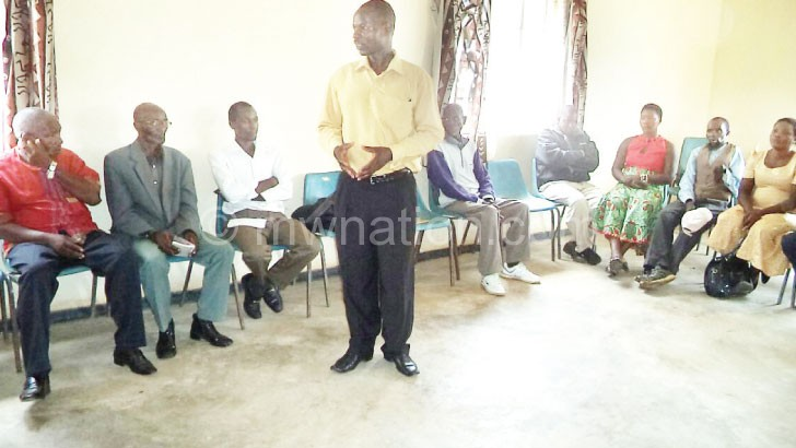 A participant contributing during one of the training sessions
