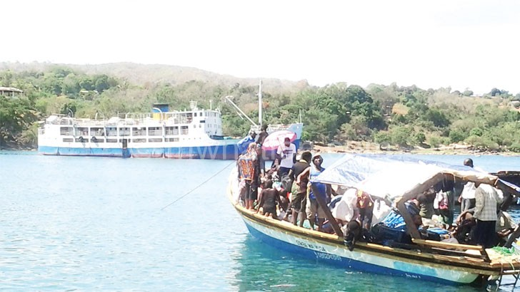 Is the department protecting MV Ilala in the background?