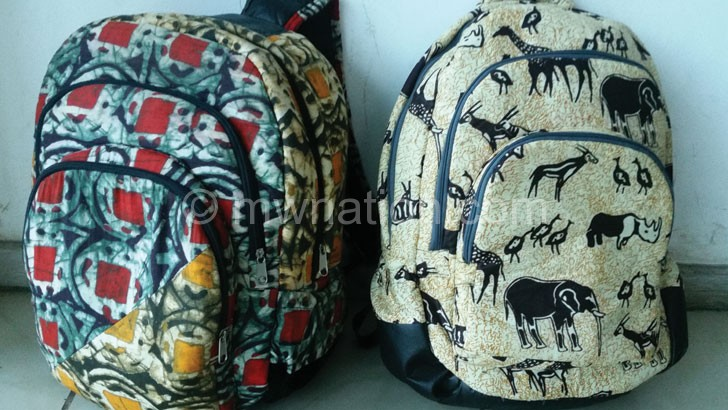 Two samples of the chitenje inspired Agnes bagsells