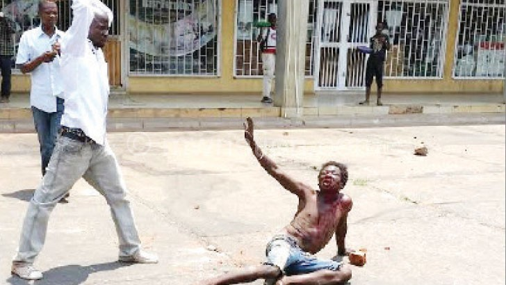 One of the mob justice incidences in Lilongwe