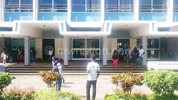 Not learning: Students at the Polytechnic in Blantyre