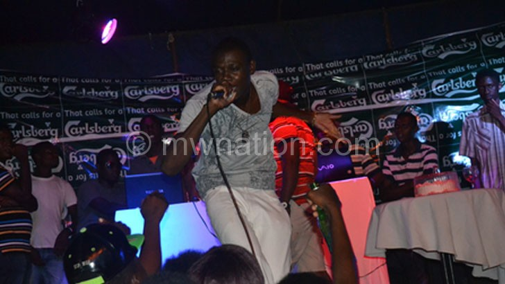 Saint wows patrons during the party