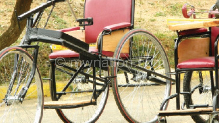 Macoha has donated wheelchairs such as these to beneficiaries in Dowa