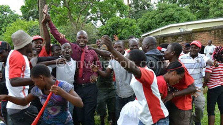 Good old days: Bullets supporters celebrate  after electing new office bearers